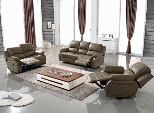 Voll-Leder Sofagarnitur Fernsehsofas Relaxsofas 5129-3+2+1-1106