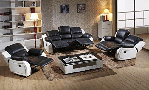 Voll-Leder Sofagarnitur Fernsehsofas Relaxsofas 5129-3+2+1-SW