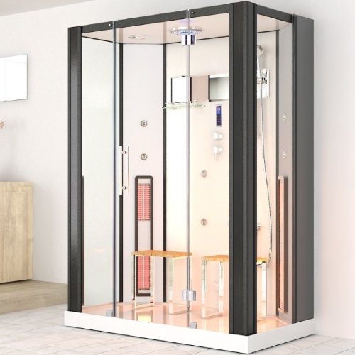 weltneuheit infrarotdampfdusche naxos infrarotkabine infrarot dampfdusche dampf sauna. Black Bedroom Furniture Sets. Home Design Ideas