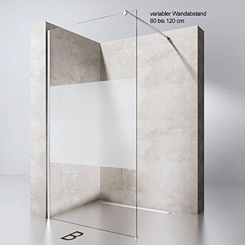 walk in duschwand bremen1ms inkl rundem stabilisator bram1 bh 90x200cm 8mm esg. Black Bedroom Furniture Sets. Home Design Ideas