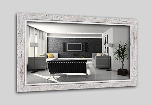 WandStyle H660-001 Wandspiegel Spiegel Schwemmholz Shabby Chic Vintage Landhaus Weiß (60 x 80 cm)