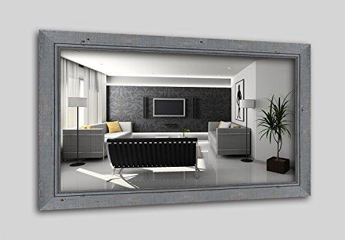 WandStyle H660-009 Wandspiegel Spiegel Schwemmholz Shabby Chic Vintage Landhaus Grau (20 x 30 cm)