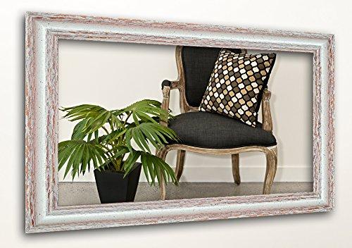 WandStyle H740-001 Wandspiegel Spiegel Shabby-Chic Landhaus Massivholz Creme Weiß (20 x 30 cm)