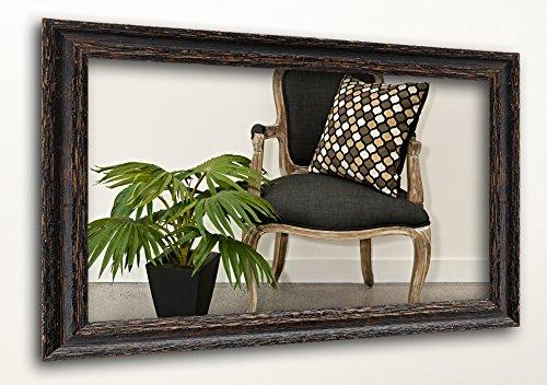 WandStyle H740-010 Wandspiegel Spiegel Shabby-Chic Landhaus Massivholz Schwarz (20 x 30 cm)