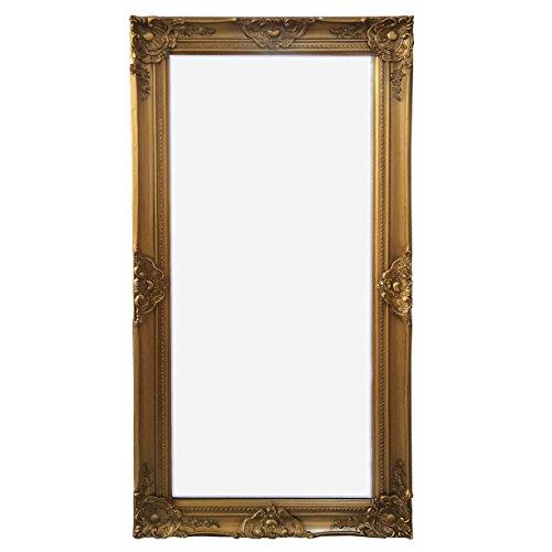 wandspiegel gold 132 x 72 cm landhaus antik barock spiegel mit facettenschliff shabby chic neu. Black Bedroom Furniture Sets. Home Design Ideas