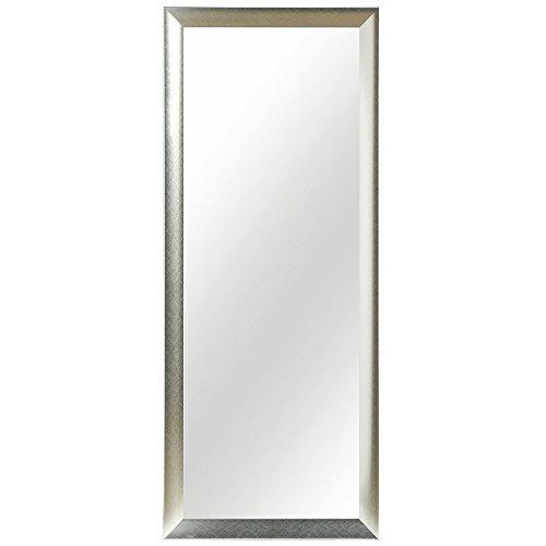 Wandspiegel Spiegel 150 x 60 cm silber schlichter Landhaus-Stil Facettenschliff