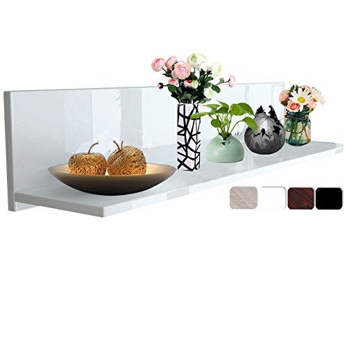 Woltu Wandregal Wandpaneel Hängeregal Holz Wandboard Cube Lounge Hochglanz Weiß RG9242ws