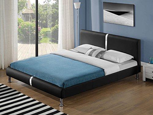 zearo polsterbett kunstlederbett doppelbett ehebett bett. Black Bedroom Furniture Sets. Home Design Ideas