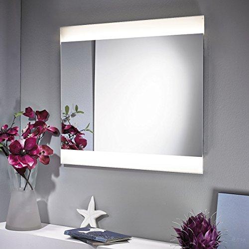 ZEARO Spiegel mit LED Beleuchtung 56x70cm beleuchtet Badspiegel Schminkspiegel Wandspiegel