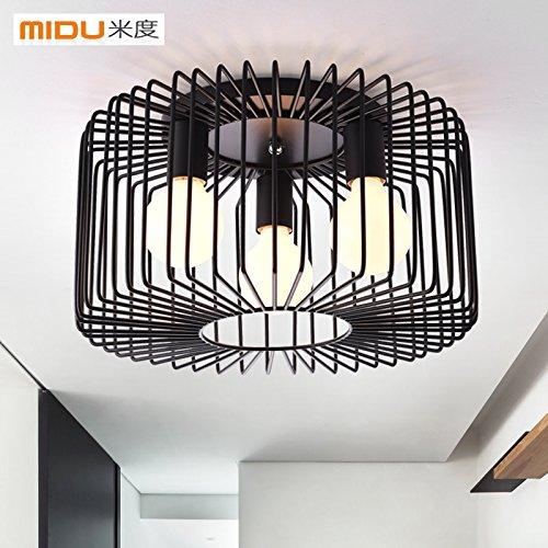 ZZYLIGHT-LED Moderne Deckenleuchten Pendelleuchte Unterputz Lihgt für Schlafzimmer Wohnzimmer Flur esszimmer, Schwarz (mit 5W