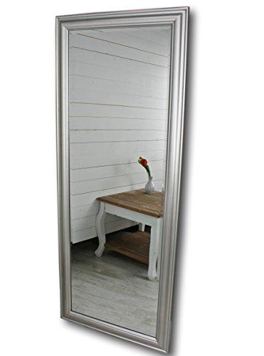 elbmöbel Wandspiegel groß in silber mit schlichtem Holz-Rahmen 150 x 60cm