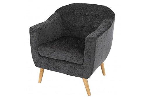 grauer Retro Club Sessel Polstersessel grau Skandinavisches Design Loungesesel