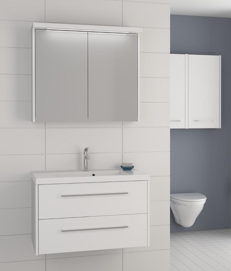 Scanbad fox waschplatz mit spiegelschrank 80 wei m bel24 - Scanbad spiegelschrank ...