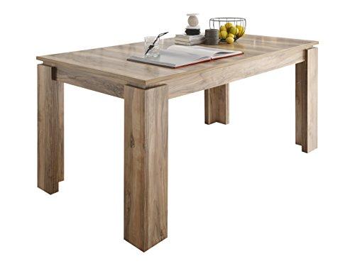 trendteam ET16200 Esstisch Wohnzimmertisch Tisch Nussbaum Nachbildung, ausziehbar LxBxH 160-200 x 90 x 77 cm