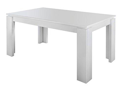 trendteam ET16200 Esstisch Wohnzimmertisch Tisch weiss Nachbildung, ausziehbar LxBxH 160-200 x 77 x 90 cm