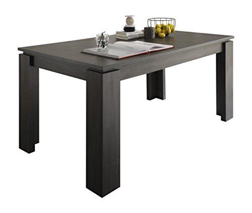 trendteam ET16269 Esstisch Wohnzimmertisch Tisch Esche grau Nachbildung, ausziehbar LxBxH 160-200x90x77 cm