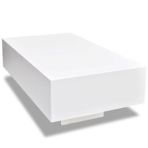 vidaxl wei er hochglanz wohnzimmertisch 85 cm m bel24. Black Bedroom Furniture Sets. Home Design Ideas