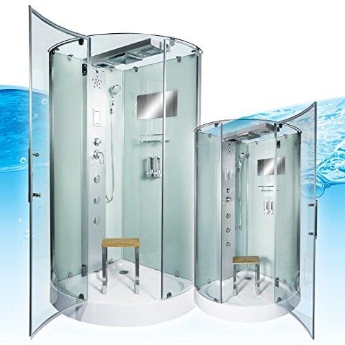 AcquaVapore DTP6037-0002 Dusche Dampfdusche Duschtempel Duschkabine 80x80, EasyClean Versiegelung der Scheiben:2K Scheiben Versiegelung +99.-EUR