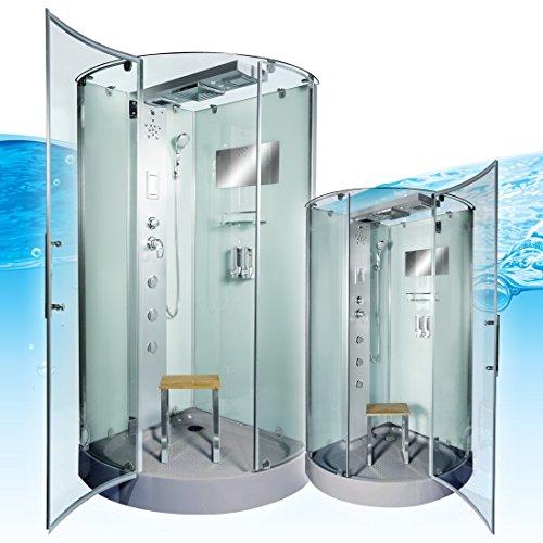 AcquaVapore DTP6037-8002 Dusche Dampfdusche Duschtempel Duschkabine 80x80, EasyClean Versiegelung der Scheiben:2K Scheiben Versiegelung +99.-EUR