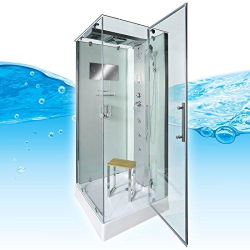 AcquaVapore DTP6038-0002R Dusche Dampfdusche Duschtempel Duschkabine 80x80, EasyClean Versiegelung der Scheiben:Nein! +0.-EUR