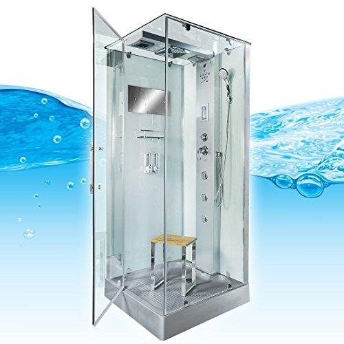 AcquaVapore DTP6038-4002L Dusche Dampfdusche Duschtempel Duschkabine 100x100, EasyClean Versiegelung der Scheiben:Nein! +0.-EUR