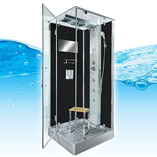 AcquaVapore DTP6038-4302L Dusche Dampfdusche Duschtempel Duschkabine 100x100, EasyClean Versiegelung der Scheiben:2K Scheiben Versiegelung +99.-EUR