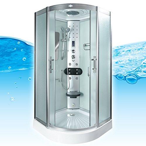 AcquaVapore DTP8046-0012 Dusche Dampfdusche Duschtempel Duschkabine 80x80, EasyClean Versiegelung der Scheiben:2K Scheiben Versiegelung +89.-EUR