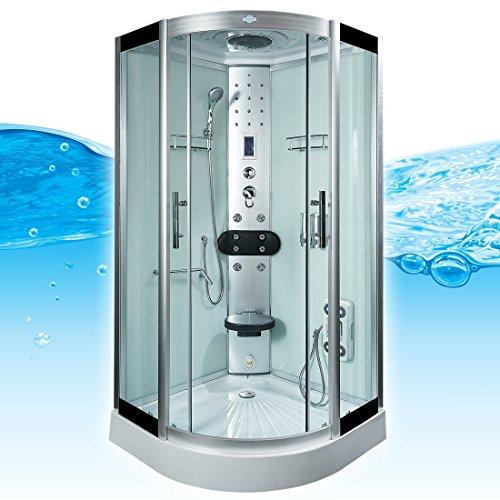 AcquaVapore DTP8058-5002 Dusche Dampfdusche Duschtempel Duschkabine 90x90 XL, EasyClean Versiegelung der Scheiben:2K Scheiben Versiegelung +89.-EUR