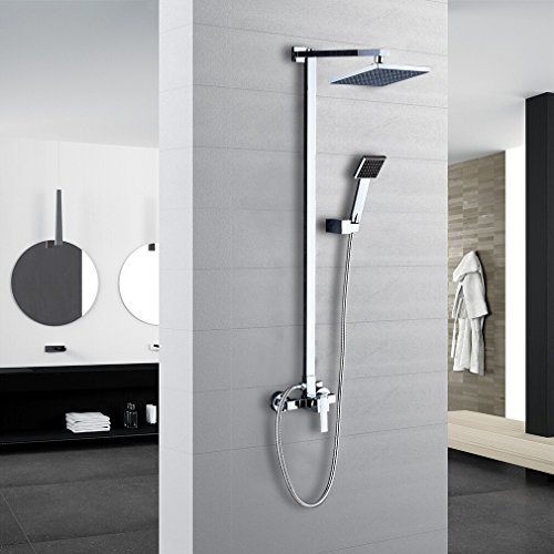 Auralum® 2 Jahre Garantie Duschsystem Wasserfall Duschen Duschset Brauseset Inkl. Handbrause + Duschkopf Wandhalterung Duschpaneel