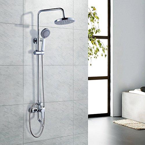 """Auralum® 8"""" Regenduschkopf Duschkopf Regendusche Duschsystem Set Regenbrause + Wasserhahn"""
