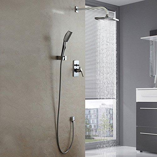 Auralum® Duschset Duschsystem Duscharmatur mit Handbrause Duschkopf für Bad