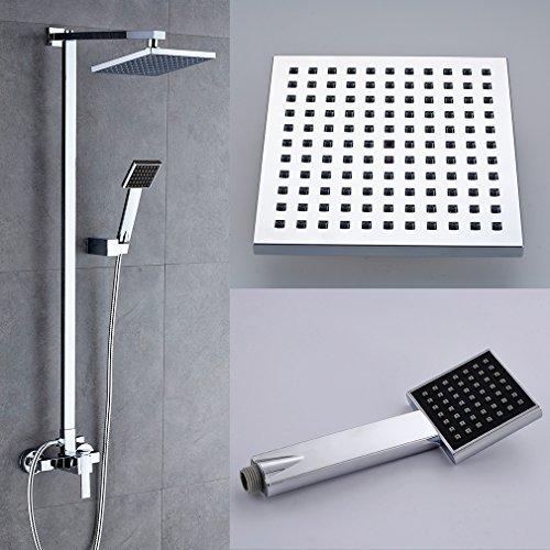 Auralum® Elegant Duschset Inkl. Wandhalterung + Handbrause + Regenbrause
