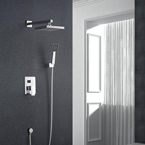 Auralum® Elegantes chrom Dusche Duschset Wasserfall des Duschsystem Brauseset incl. Handbrause Dusche Panel Duschkopf