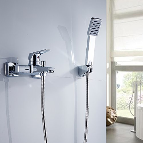 Auralum® Klasischdesign Duschset Brauseset inkl. Wasserhahn & Handbrause