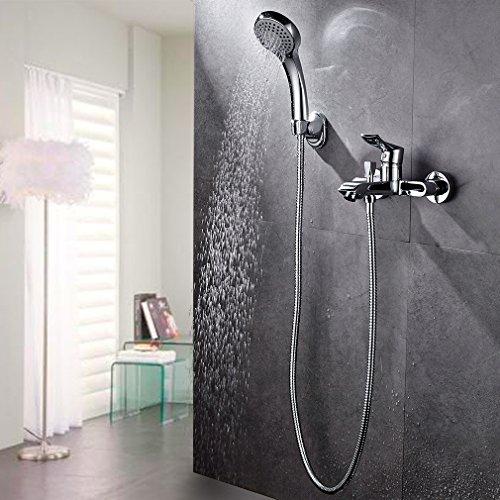 Auralum Unterputz Duschset Duschsystem Wasserfall Brauseset mit Thermostat mit Inkl. Handbrause + Duscharmatur in Bad(Type A)