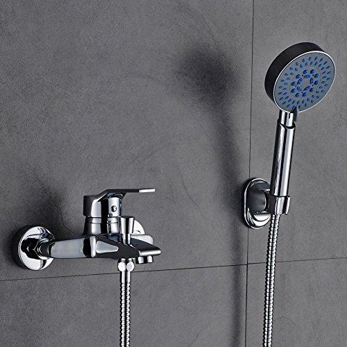 Auralum® Zeitgenössig Dusch Set Überkopf Brauseset inkl. Wandhalterung & Handbrause