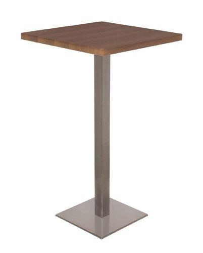 Bartisch Stehtisch Bistrotisch Nussbaum Holzoptik 60x60x105 - M-BT60H/1432