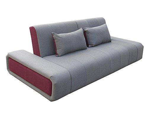 Design 1A 3-er Schlafsofa Polster Couch mit Bettfunktion Federkern grau
