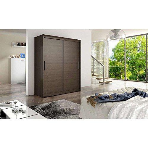 JUSThome Denver Schwebetürenschrank Kleiderschrank Garderobenschrank (HxBxT): 200x150x58 cm Farbe: Coco