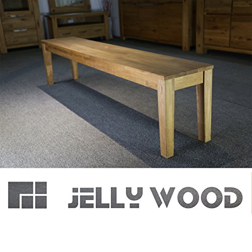 jellywood isar massive sitzbank 180 x 33 cm holzbank bank esszimmerbank massivholz in echtholz. Black Bedroom Furniture Sets. Home Design Ideas