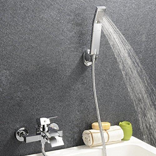 KINSE® Klasischdesign Dusch Set Überkopf Duschkopf Regenkopf Brauseset inkl. Wasserhahn & Handbrause