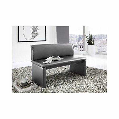 SAM® Esszimmer Sitzbank Family Gibson in grau, 120 cm Breite, Sitzbank mit pflegeleichtem SAMOLUX® Bezug, angenehmer Sitzkomfort, frei im Raum aufstellbare Bank mit Rückenlehne