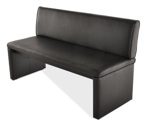 SAM® Esszimmer Sitzbank Family Smith in schwarz, 160 cm Breite, Sitzbank mit pflegeleichtem SAMOLUX® Bezug, angenehmer Sitzkomfort, frei im Raum aufstellbare Bank mit Rückenlehne
