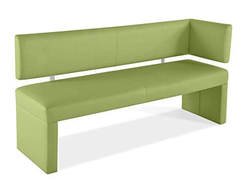 SAM® Esszimmer Sitzbank Ottomane Lasesto in lemon green Bank 150 cm mit Rückenlehne vielseitig einsetzbar, angenehmer Sitzkomfort, bequeme Polsterung, pflegeleichte Oberfläche Lieferung teilzerlegt per Paketdienst