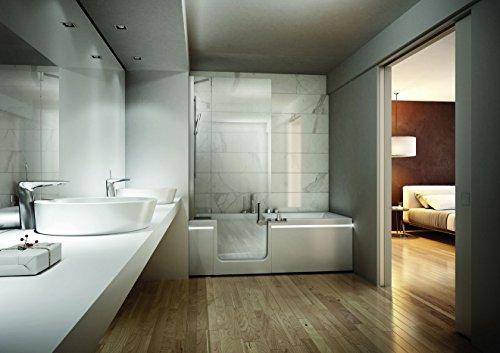Teuco Pret-a-porter Duschbadewanne 170 x 75 mit Armatur und Einlauf Türe rechts mit entfernbarer Sitz