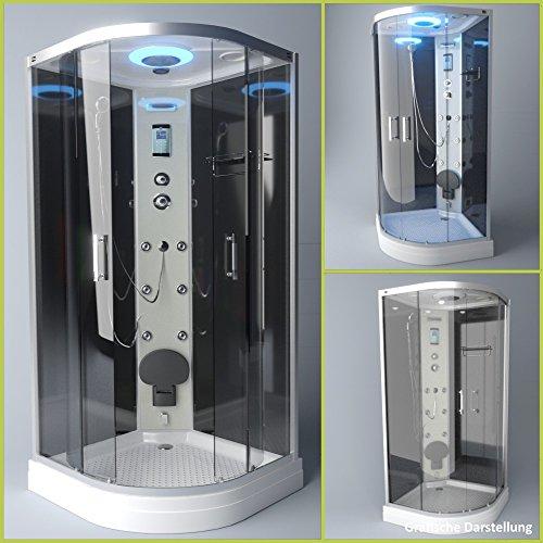 TroniTechnik Dampfdusche Duschtempel Duschkabine Dusche Eckdusche Komplettdusche S100XE2KG01 100x100