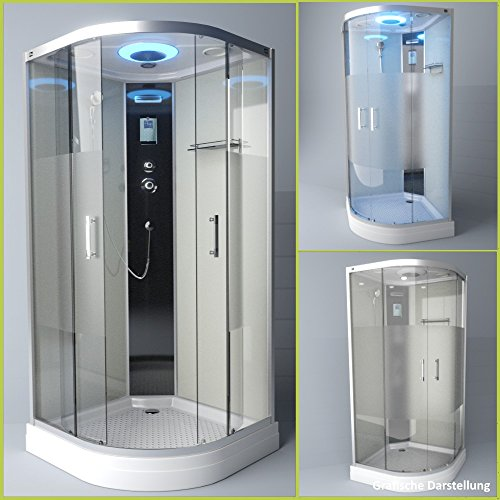 TroniTechnik Duschtempel Duschkabine Dusche Glasdusche Eckdusche Komplettdusche S100XF1HG02 100x100