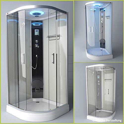 TroniTechnik Duschtempel Duschkabine Dusche Glasdusche Eckdusche Komplettdusche S100XG1KG02 100x100