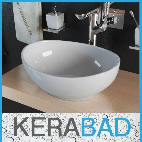 Waschbecken KBW082 Keramik Waschtisch Waschschale Aufsatzwaschbecken