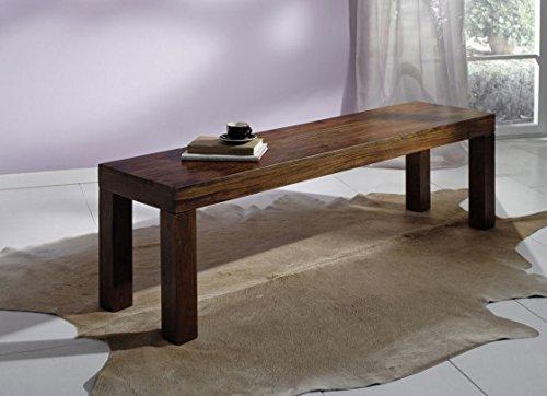 XXS® Möbel Sitzbank Cubus 180 x 40 cm Rosenholz Sheesham walnuss Palisander gewachst Holzbank Lieferung mit einer Spedition bis Bordsteinkante